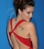 Actrees Alyssa Milano Tattoo Attends The Unicef Ball