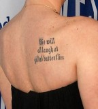 Latin Languange Tattoo Design On Shoulder