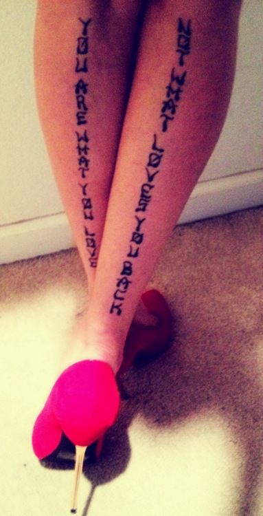 Charming Tattoo Phrases For Girls