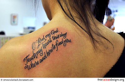Inspiring Tattoo Quotes On Shoulder For Women