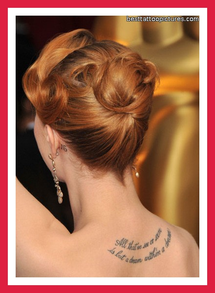 Tattoo Words And Phrases on Upper Back For Girls