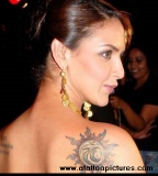 Celebrity Shoulder-blade / Back Tattoos Design Ideas for Women - Celebrity Tattoos