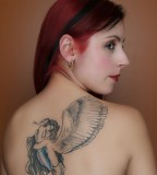Beautiful Women with Angels Back-Tattoo Design - Tattoos for Women