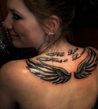 Awesome Upper-Back Wings Tattoos Ideas for Women - Tattoos for Women
