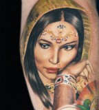 Indian Women Face Tattoos Design for Women - Tattoos for Women