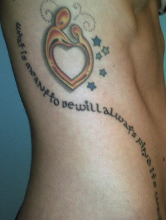 Beautiful Hip Love Tattoo Quotes For Girls