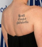 Back Shoulder Tattoo Quotes for Girls