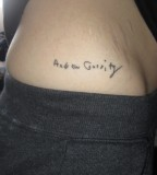Small Name Tattoo Design on the Hip for Girls