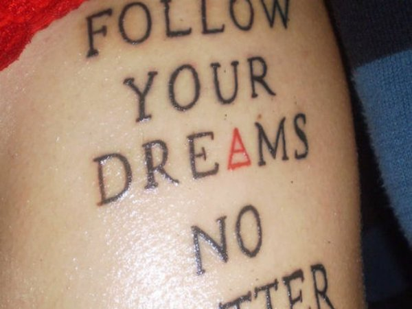 Cool Love Inspirational Text Tattoo Quote For Teen Girls