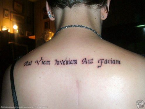 Upperback Latin Quotes For Women Tattoos