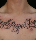 Strength Respect And Loyalty Lettering For Family