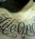 One Life One Chance Tattoo On Chest