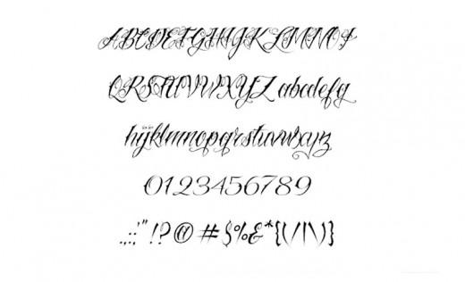 Awesome Rebel Tattoo Script Fonts Maker