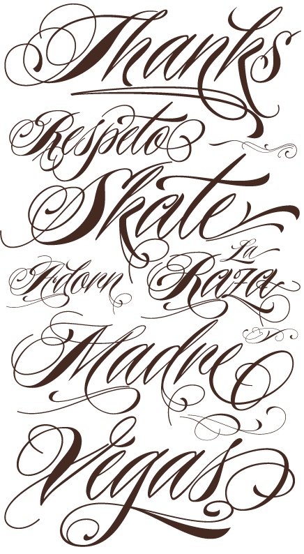 Awesome New Tattoo Font Released