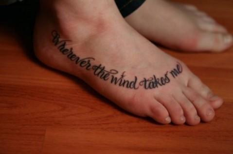Itallic Tattoo Script Fonts for Leg Women