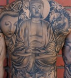 Budha Back Tattoo