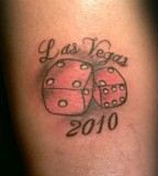 Dice Las Vegas Tattoo