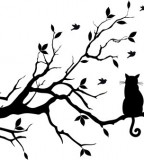 Black Cat And Tree Tattoo Designs