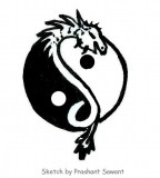 Yin Yang Dragon Family Tattoo Designs