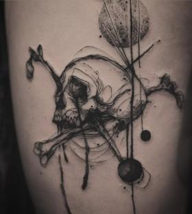 tattooer_nadi-sketch-style-skull-tattoo
