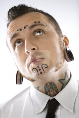 Neck / Face Caucasian Tattoo Design
