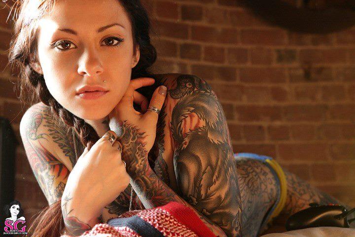 Full Body Girl Tattoo