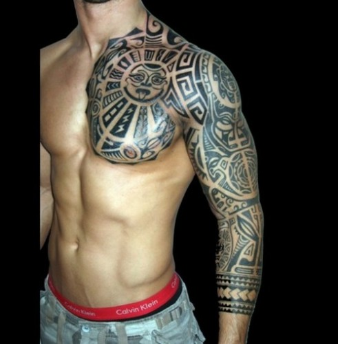 Full Arm Tattoo Design For Men