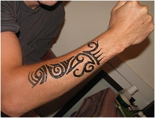 Forearm Tribal Tattoo Designs For Men