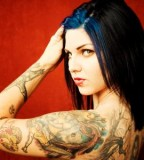 Cool Full Back and Arm Sleeve Women Tattoos