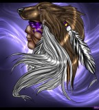 Native American Warrior Theme Design for Tattoo