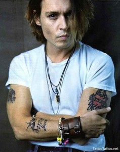 Cool Johnny Depp Arm Tattoos