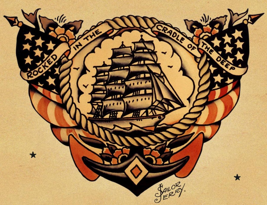 Maritime Theme Design for Tattoos