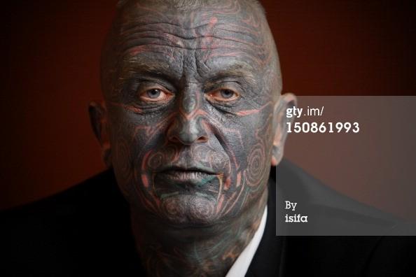 Vladimir Franz Amazing Face Tattoo