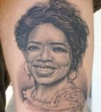 Oprah Theme Sleeve Tattoo Design