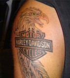 Harley Davidson Tattoo Design on Arm