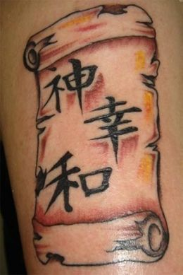 Kanji Symbols Tattoos Design