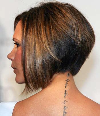 Victoria Beckham Neck Tattoos