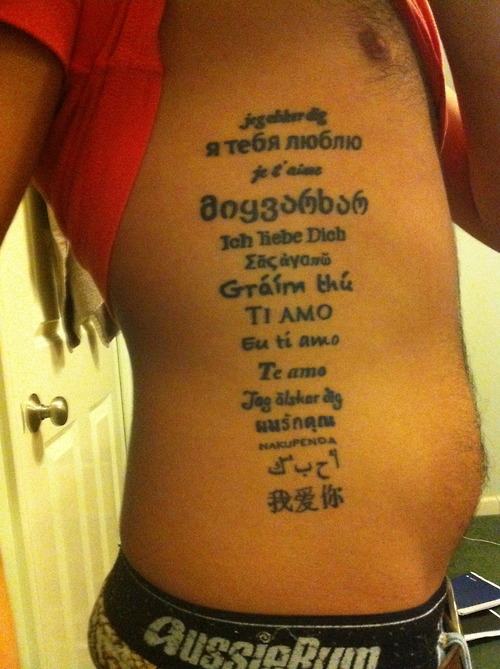 Love in Different Languages Tattoos
