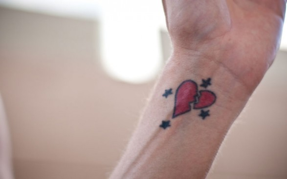 Wrist Tattoos Of Broken Hearts