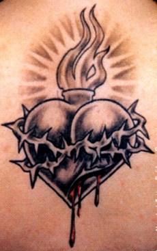 Feminine Stars And Hearts Tattoos