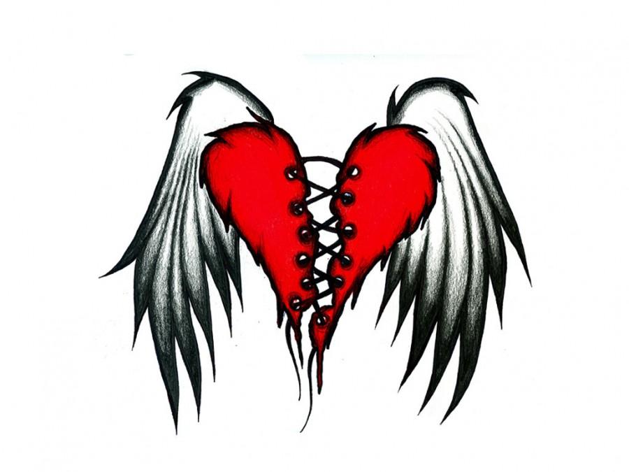 The Flying Wings of Broken Heart Tattoos
