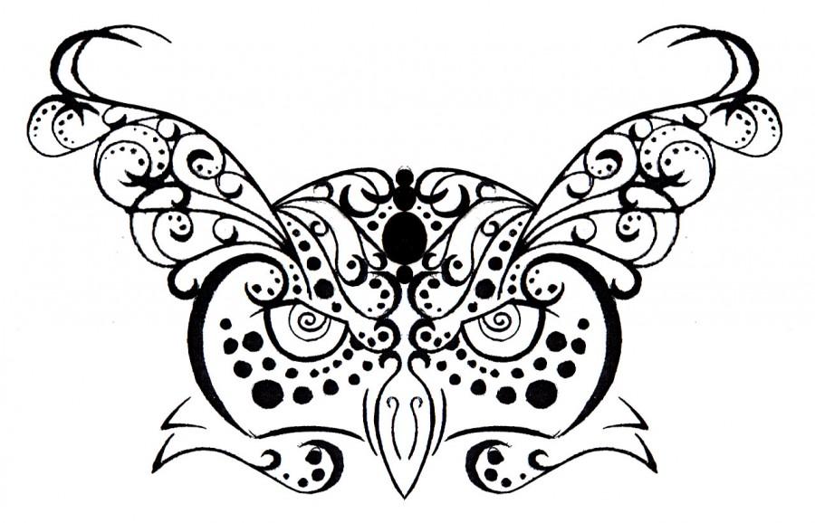 Owl Tribal Henna Tattoo Design