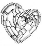 Shuttering Heart Tattoo Design