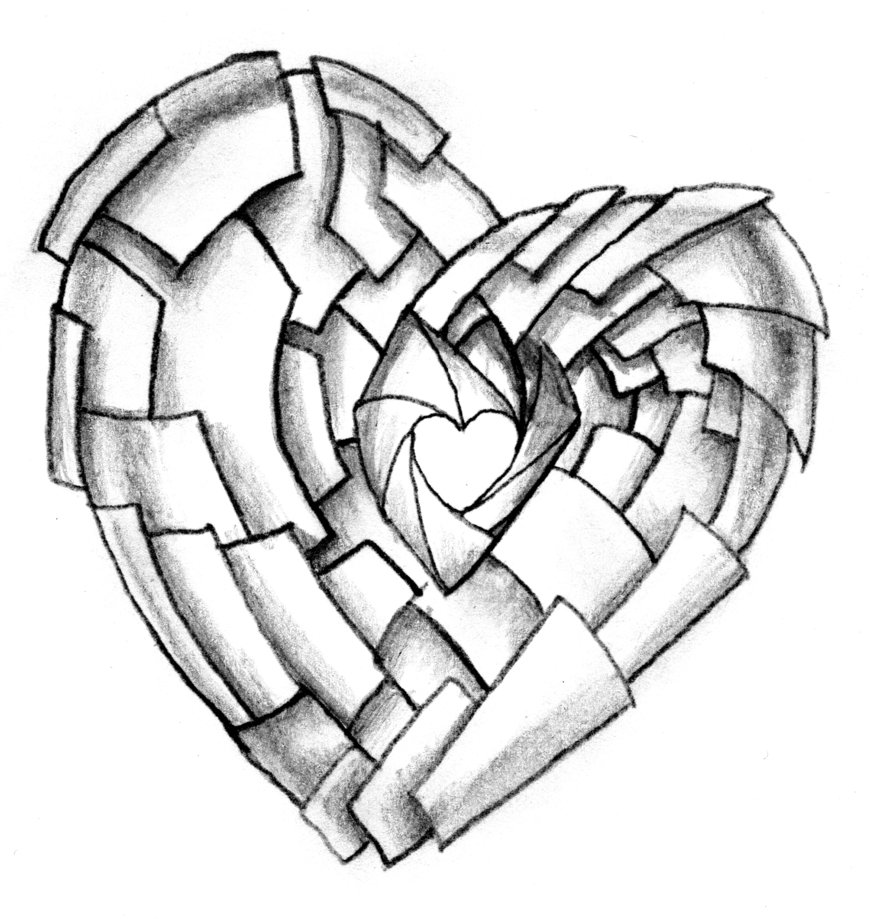 Shuttering Heart Tattoo Design