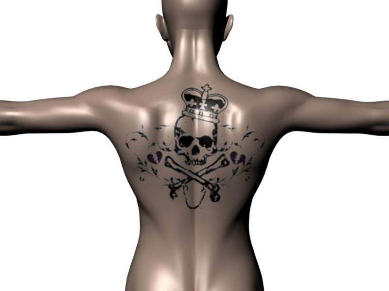 Skull And Crown Tattoo Back Tattoo