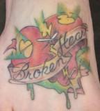 Exceptional Broken Heart Tattoo
