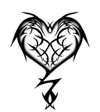Tribal Heart Tattoo Design