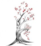 Cherry Blossom Japan Drawing Tattoo