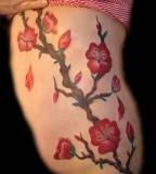 Cute Cherry Blossoms Tattoo Design for Women