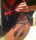 Exotic Dream Catcher Tattoo for Girls